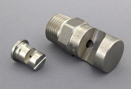 Spraytech Stainless Steel Wide Flat Spray Nozzle Type CD3 Deflective DH