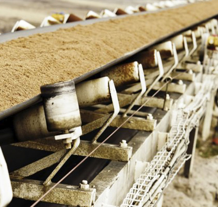 close up of a conveyor system